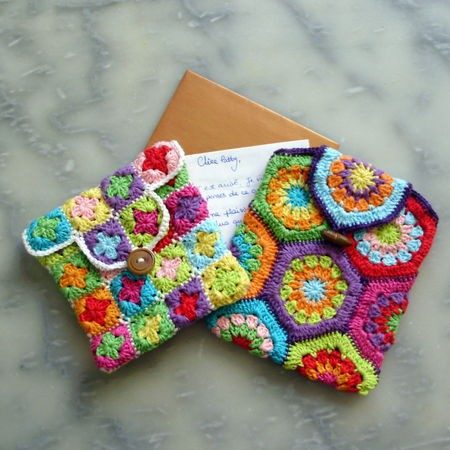 Mini Crochet Bag : Source: grannymania.canalblog.com via Tamie on Pinterest