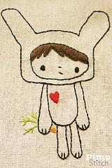 Bunny Boy w/heart